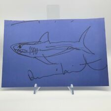 Damien Hirst Signed Sketch Drawing Shark VERY RARE Authentic ART AFTAL OnlineCOA