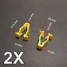 2X Yellow wheel arch trim clips for Honda Civic, CRV & HRV