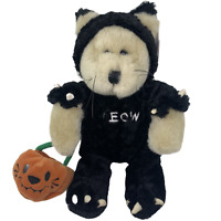 2002 Starbucks Bearista Bear Halloween Cat Costume MEOW 22nd Edition Pumpkin NWT