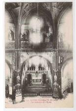 Church Interior Notre Dame de la Drèche Eglise Albi France 1910c postcard