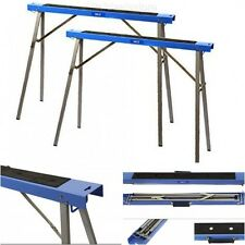 Folding Sawhorse Legs Brackets Stand 2 Pack Hand Tools Anti Slip Work Surface