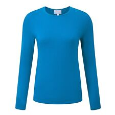 Pure Collection Cashmere Crew Neck Sweater - Marine Blue UK Size 14 RRP £99