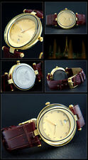 Cavadini Luxury Unisex Watch SPECIAL Glass Very Beautiful IP Gold Plated