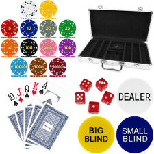 High Quality 300 Piece, Suited Numbered 12g Poker Chip Set in Aluminium Case