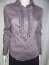 ESPRIT Womens Long Sleeve Brown Shirt/Blouse size 8