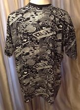 Black T Shirt With Silver & White Money Bling- Mens XXXL 3XL Cotton Cool DTK