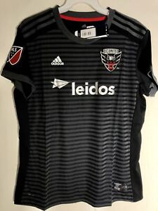 Adidas MLS Women's Jersey Washington D.C. United Team Black sz XL
