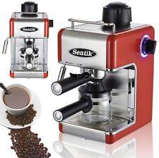 Sentik Red Espresso Cappuccino Latte Coffee Maker Machine Stainless Steel Deco