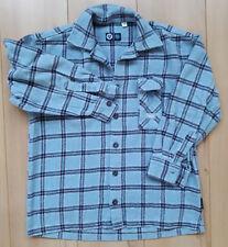 Jungen Hemd Winterhemd warm Langarm blau kariert HERE&THERE C&A Gr. 146/152