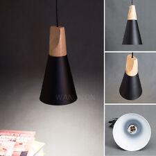 Modern Timber Wood Chandelier Pendant Lamps Fixture Ceiling Light Lighting