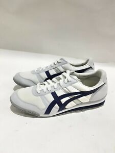 New Mens Onitsuka Tiger White Ultimate 81Leather Trainers Lace Up Uk Size 8#288