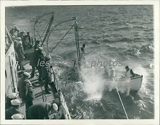 1939 Lifeboat Launched from Patrol Boat Colfax Original News Service Photo