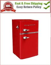 Frigidaire 3.2 cu. ft. 2 Door Retro Bar Mini Fridge Home Office Red