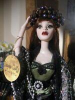 "OOAK Parnilla Halloween Evangeline Ghastly Doll Silver Sequin Coat Crown 18.5"""