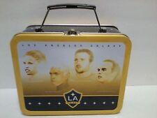 Los Angeles LA Galaxy Metal Lunch Box Pail Soccer Players Cobi Abel Joe Landon