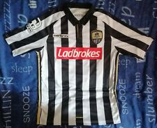Official Notts County 2015/16 Home Shirt.. Mens Size Small. Carbrini..Ladbrokes