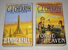 C J Cherryh lot of 2 science fiction paperbacks complete Gene Wars duology