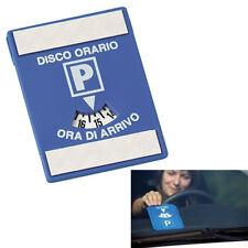 Disco Orario Europeo In Plastica Con Adesivo Parabrezza Parcometro Per Auto 3109