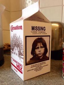 "Lost Boys Replica ""Laddie Thompson"" Milk Carton Halloween Horror Prop"