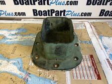 """Vintage Bronze Mast Step for Wooden Sailboat 5"""" x 7"""" Opening - Nice Patina"""