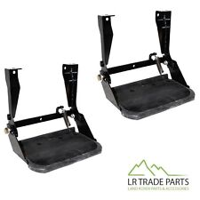 LAND ROVER DEFENDER 90 110 130 NEW FOLDING SIDE STEPS X2 & FITTING KITS STC7631