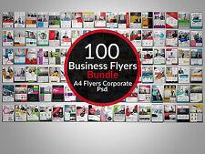 100 Creative Business Flyers Bundle for Photoshop Designers