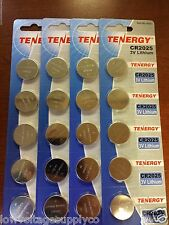 20 Tenergy CR2025 3V Lithium Coin KeyFob Remote Toy Watch Batteries