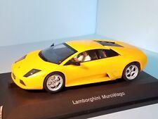 AutoArt SLOT Car 1:24 Lamborghini MURCIELAGO Yellow AWD Lighting Lamps NEW 14021