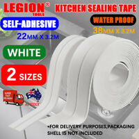 Kitchen Bathroom Sink Sealing Strip Waterproof Tape 3.2M White Easy to Clean