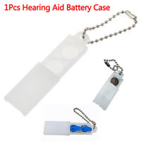 1X Hearing Aid Battery Batteries Box Button Storage Protective Holder Hard CaQA