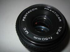 PRAKTICA BAYONET 50MM F2.4 PANCAKE LENS & 2X TELECONVERTOR FILM/DIGITAL