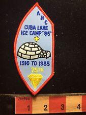 Vtg 1985 CUBA LAKE ICE CAMP AHC Boy Scout Patch - Igloo 76Y7