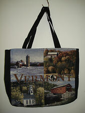 New Mill Street Design Tapestry Canvas Tote Bag Vermont