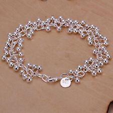 """Unisex Women's 925 Sterling Silver Bracelet 8"""" L2"""
