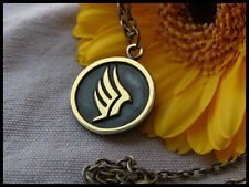 Mass Effect Paragon Pendant Necklace With Chain Brass Casting