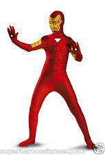 Avengers Iron Man Deluxe Costume Skinovations Boys Size 10-12 -50376 Disguise
