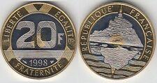 Gertbrolen 20 Francs Mont Saint-Michel 1998  BE  Belle Epreuve