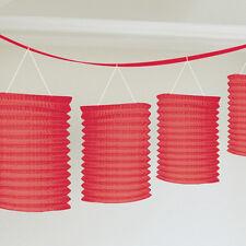 rouge Lanterne en papier Guirlande 12 pieds pendant fête banderole