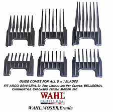 Wahl 5in1 Blade Attachment Guide COMB SET For Chromado,Arco,Li+Pro,Bravura,Genio