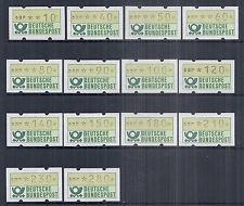1981 Germany CVP Computer Vended Postage ATM Labels Automatenmarken MNH MI 1.1*