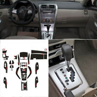Interior Center Console Carbon Fiber Molding Sticker Decals For Toyota Corolla