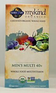Garden of Life myKind Organics Men's Multi 40+ 60 Vegan Tablets Non-GMO Multi