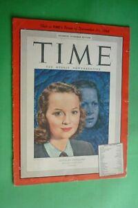Time Magazine December 20 , 1948 Olivia De Havilland Ilustrador Boris Chaliapin