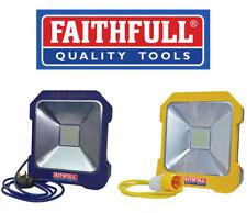 Nuevo Faithfull 20w SMD LED Suelo/Inundación Obra Lámpara de Trabajo 240v Or