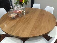 KELLY ROUND DINING TABLE SOLID TASSIE OAK - AUSTRALIAN MADE