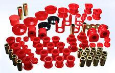 Energy Master Hyper Flex Bushing Kit For 89 90 91 92 93 94 Nissan 240SX S13 Red