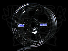 NEW GENUINE RAYS VOLK RACING TE37 FORGED WHEELS 15X8 4X100 +35 GLOSS BLACK