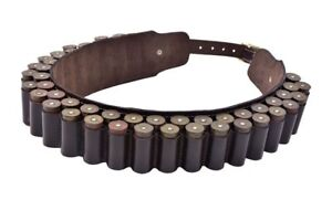 Clearance Sale. 100% Leather Cartridge Belt 12G/12 Bore. Non rusty Brass Buckles