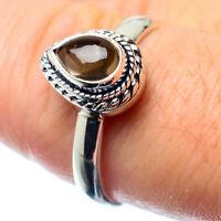 Smoky Quartz 925 Sterling Silver Ring Size 8.25 Ana Co Jewelry R26571F