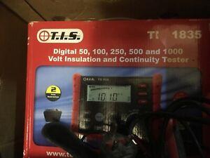 TIS 1835 Insulation & Continuity Tester 50, 100, 250, 500, 1000 Volt Brand New
